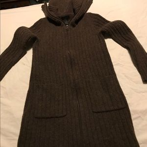 The Limited lamb wool zip up dress